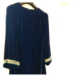 Blue Velvet Vintage Dress